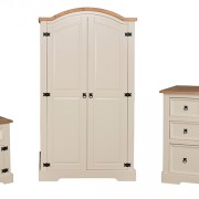Corona cream bedroom set