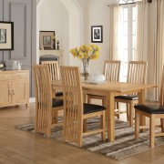 Ellington Oak 5ft Dining Set