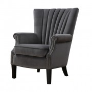 Stratford Armchair Grey Velvet