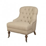 chantal bedroom chair beige