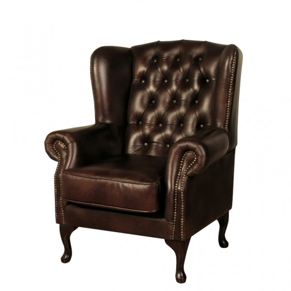 kendale chair leather effect brown