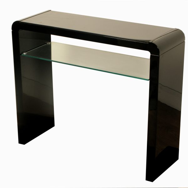 Modern black high gloss console table furniture living for Console hallway table furniture